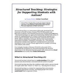 teaching strategies for autism essay