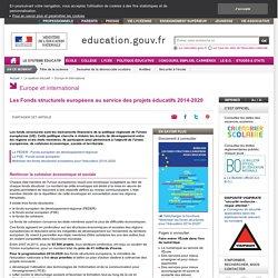 Les Fonds structurels européens au service des projets éducatifs 2014-2020