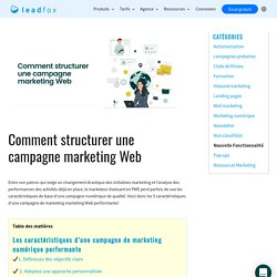Comment structurer une campagne marketing Web - Leadfox