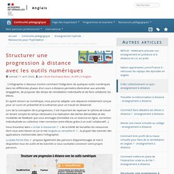 Ac-Versailles_Structurer une progression à distance avec les outils numériques