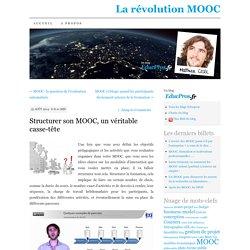 Structurer son MOOC, un véritable casse-tête