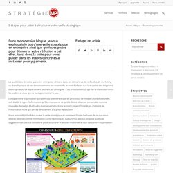 5 étapes pour aider à structurer votre veille stratégique - Stratégie MP