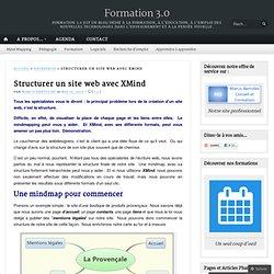Structurer un site web avec XMind