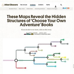These Maps Reveal the Hidden Structures of 'Choose Your Own Adventure' Books - Atlas Obscura