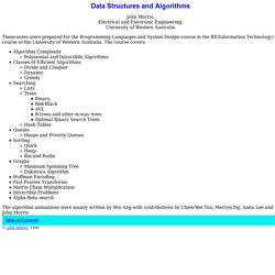 Data Structures and Algorithms: Table of Contents