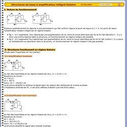 Structures de base à amplificateur intégré linéaire