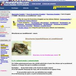Structures au conditionnel-anglais