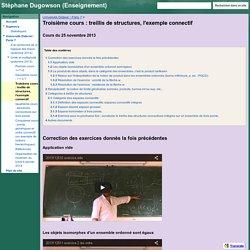 Troisième cours : treillis de structures, l'exemple connectif - Stéphane Dugowson (Enseignement)