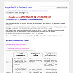 Structures des entreprises - organisation2entreprises