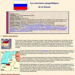 Russie: structures géopolitiques