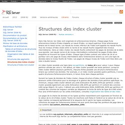 Structures des index cluster