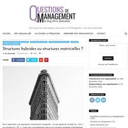 Structures hybrides ou structures matricielles ?
