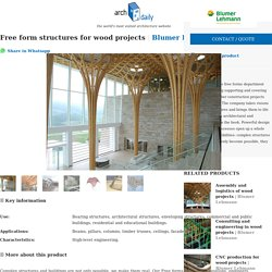 Free form structures for wood projects from Blumer Lehmann