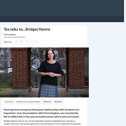 How school structures harm teacher-pupil relationships