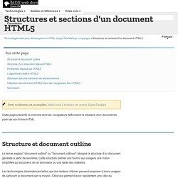 Structures et sections d'un document HTML5