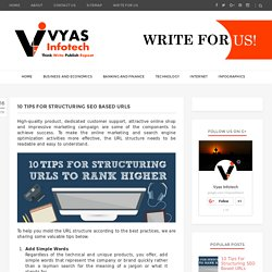 10 Tips For Structuring SEO Based URLs