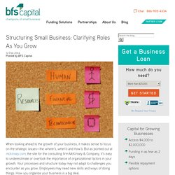 Structuring Small Business: How Internal Structure Affects Growth -