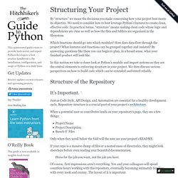 Structuring Your Project — pythonguide 0.0.1 documentation