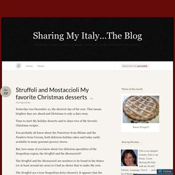 Struffoli and Mostaccioli My favorite Christmas desserts « Sharing My Italy...The Blog