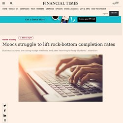 Moocs struggle to lift rock-bottom completion rates
