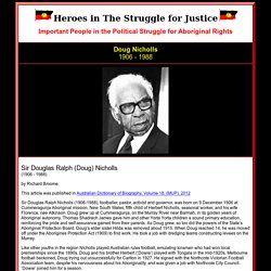 Heroes in The Struggle for Justice - Doug Nicholls