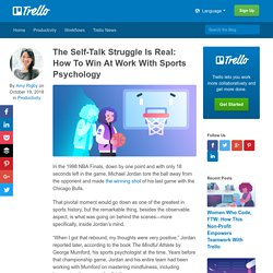 The Self-Talk Struggle Is Real: How To Win At Work With Sports Psychology