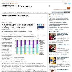 Math struggles start even before kindergarten, state says