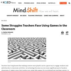 Some Struggles Teachers Face Using Games in the Classroom
