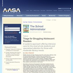 Triage for Struggling Adolescent Readers