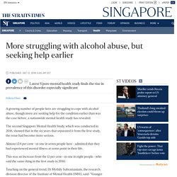 More struggling with alcohol abuse, but seeking help earlier, Health News
