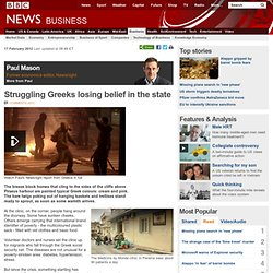 Struggling Greeks losing belief in the state
