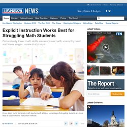 Study: Math Teachers of Struggling Students Likely to Use Ineffective Methods