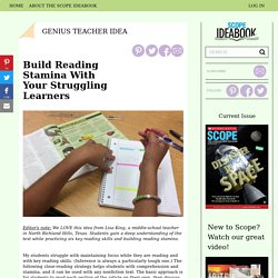 Build Reading Stamina With Your Struggling Learners