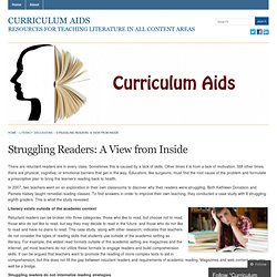 Struggling Readers: A View from Inside