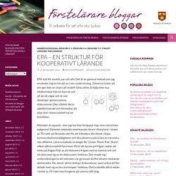 EPA – en struktur för kooperativt lärande