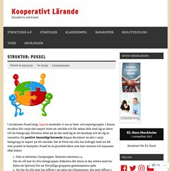 Struktur: Pussel – Kooperativt Lärande