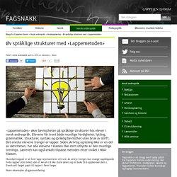 Øv språklige strukturer med LappemetodenNorsk andrespråk