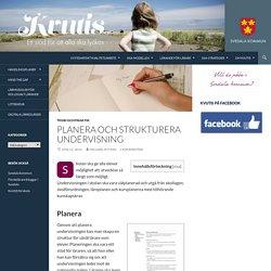 Planera och strukturera undervisning