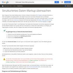 Strukturiertes Daten-Markup überwachen - Webmaster-Tools-Hilfe