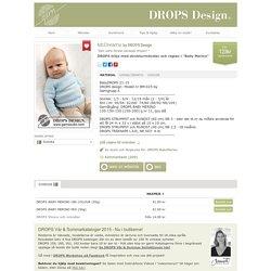 """DROPS tröja med strukturmönster och raglan i """"Baby Merino"""""""