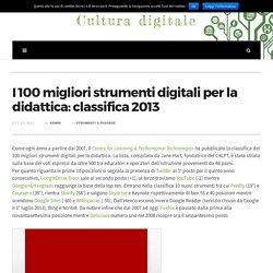 I 100 migliori strumenti digitali per la didattica: classifica 2013