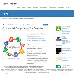 Strumenti di Google Apps for Education