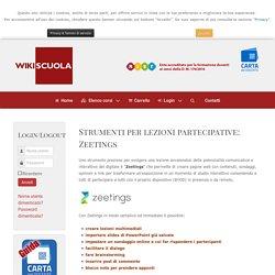 Strumenti per lezioni partecipative: Zeetings