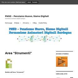 "PNSDSardegna - Area ""Strumenti"""