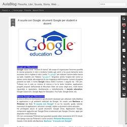 strumenti Google per studenti e docenti