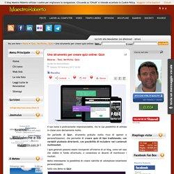 Uno strumento per creare quiz online: Qzzr