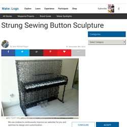 MAKE | Strung Sewing Button Sculpture