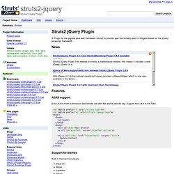 struts2-jquery - Struts2 jQuery Plugin