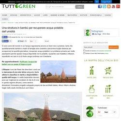 Una struttura in bambù per recuperare acqua potabile dall'umidità