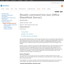 Stsadm command-line tool (Office SharePoint Server)